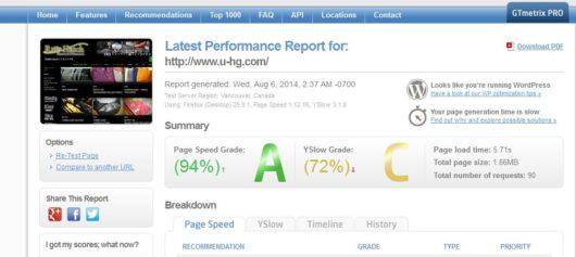 Wordpressの高速化